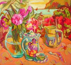 Called Tahitian Flower Painting by Paul Gauguin. I'm uncertain but the colors are great.