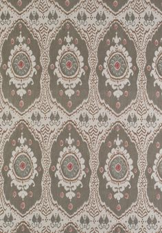 Lewis & Wood BUKHARA The latest addition to our successful group of designs inspired by the world of Middle Eastern textiles, Bukhara draws on the Ikat tradition of Uzbekistan retold in a thoroughly modern way through a palette of stunning colours - from burnished brown 'Nutmeg' to soft pink 'Sugar Almond' - giving you a colourway for every room in the house. @JLambethCo www.jlambeth.com