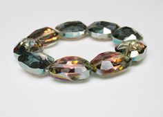 Stunning Crystal Statement Bracelet with Chunky Aurora Borealis Crystals by minxandmaven
