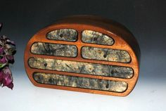 Wood Jewelry Box - Mahogany with Buckeye Burl by BurlWoodBox - Large Wooden Jewelry Box - Handmade Wood Jewelry Box Wooden Jewelry Box by BurlWoodBox