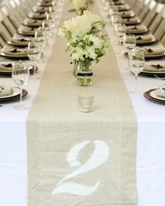 """See the """"Table Number Runner"""" in our  gallery"""
