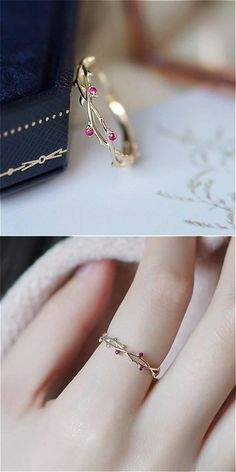 Vines Ring - Lovely Dainty Ring 2019 -Dainty Vines Ring - Lovely Dainty Ring 2019 - The most beautiful two stack ring set! The ultimate princess dream! GET YOURS AT OFF TODAY + Free Worldwide Sh. Dainty Ring, Dainty Jewelry, Cute Jewelry, Gold Jewelry, Jewelery, Jewelry Accessories, Women Jewelry, Gold Bracelets, Jewelry Ideas
