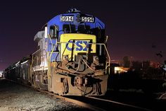 CSX sits overnight on a spur at a scrap yard in 2007 or The unit was built as Seaboard System in September, It was retired from the CSX roster soon after this photograph was made and was eventually cut up for scrap in Csx Transportation, Railroad Photography, Tractors, Trains, September, Scrap, Yard, The Unit, Patio