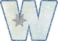 Alfabeto.snow flake...W