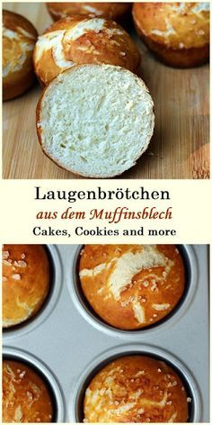 Rezept für Laugenbrötchen aus dem Muffinsblech #laugenbrötchen #brötchen #lauge