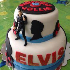 Elvis cake I made for my sister :)