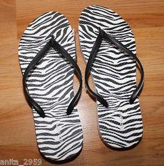 b4e52ad68 Old Navy Women s Sz 9 Zebra Print Flip Flops Sandals New w Tags