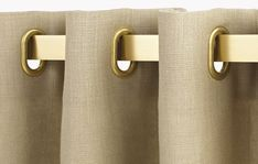 Corner: œillets oblongs laiton mat