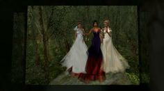modeling formals from -Désir- with Cheyenne, Cleo  Eclair at Pacifique forest