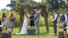 outdoor michigan mint farm wedding