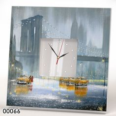 Decorative Wall Clock FRAME MIRROR CAB Taxi Brooklyn NYC New York Snow Winter #IKEA #Modern