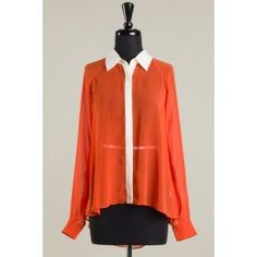 Long sleeves blouse with rear pleating details