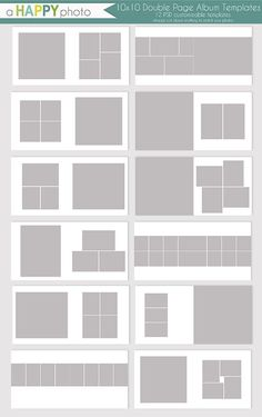 instant download 8x10 vertical album template for by popuridesign project life pinterest. Black Bedroom Furniture Sets. Home Design Ideas