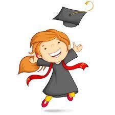 Girl in Graduation Gown. Vector illustration of girl in graduation gown and mort , Graduation Cartoon, Graduation Images, Graduation Cards Handmade, Graduation Day, Graduation Party Decor, School Clipart, Memory Books, Graduate School, School Design