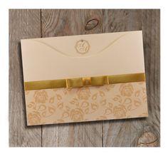 Convite de Casamento Dourado <3