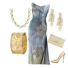 """""""Untitled #58"""" by tcdarnellprin ❤ liked on Polyvore featuring Christian Louboutin, Temple St. Clair and Blue Nile"""