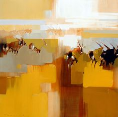 We bought this print of Gemsbok (painting by Peter Pharaoh) in Wilderness, South Africa.