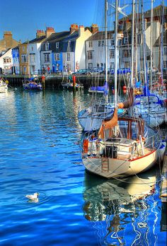 A view of the Cove area of Weymouth Harbour