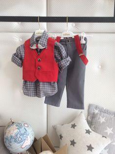 Boy Baptism, Baby Christening, Kids Wear, Baby Boy Outfits, Boy Fashion, Kids Boys, Street Styles, Clip Art, Embroidery