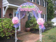 Fairy party theme - entrance decor