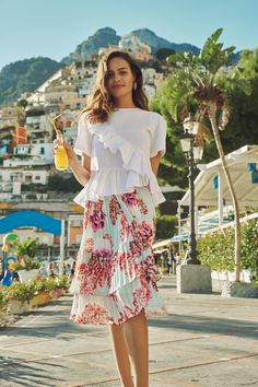 By Malina Spring/Summer 2018 campaign, Il Fiore, shoot in Positano & Praiano on the Amalfi coast, Italy.