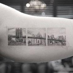WEBSTA @ bangbangnyc - Brooklyn bridge view @mr.k_tattoo