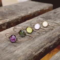 Ilianne | Jewelry Made of Love - Minimalistic Bangle Bracelet Bangle Bracelets, Bangles, Polymer Clay, Gemstone Rings, Jewelry Making, Minimalist, Gemstones, Bracelets, Bracelets