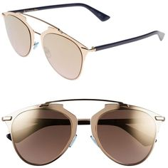 a08ede11516 Pre-owned Dior Reflected 52mm Mirror Aviator Sunglasses Rose Gold gold.