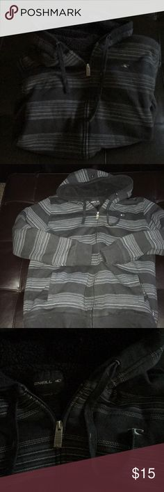 Mens Size Medium O'Neill Hoodie Great condition. No flaws, no holes, smoke Free Home. Black and dark grey in color. Checkout my other shirts to bundle and save. O'Neill Jackets & Coats