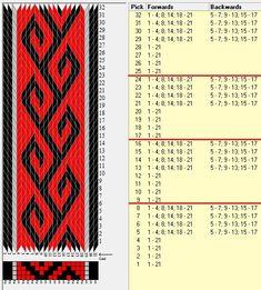 21 tarjetas, 3 colores, repite cada 8 movimientos // ramshorn17 diseñado en GTT༺❁