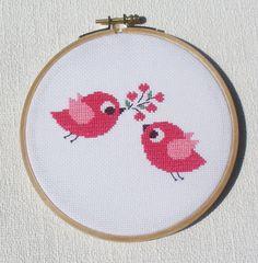 Bird Cross stitch pattern Birds in love by CrossStitchForYou