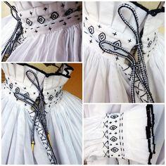 """Chemise au col et poignets brodés et plissés, Allemagne 16ème siècle. Création costume: """"Costumes and Co"""" par Fanny C."""