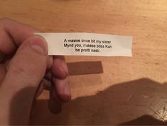 Not what I was expecting in my fortune cookie...