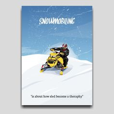Snowmobiling sport poster artwork design by Cocographic  Available now at displate Artwork Design, Cool Artwork, Sled, Print Artist, How To Become, Poster Prints, Sport, Metal, Movie Posters
