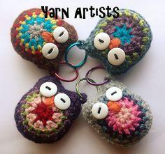 Baby Owls Free Crochet Key Rings