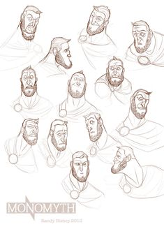 Expression sheet by randybishopart ✤ || CHARACTER DESIGN REFERENCES | キャラクターデザイン • Find more at https://www.facebook.com/CharacterDesignReferences if you're looking for: #lineart #art #character #design #illustration #expressions #best #animation #drawing #archive #library #reference #anatomy #traditional #sketch #development #artist #pose #settei #gestures #how #to #tutorial #comics #conceptart #modelsheet #cartoon #male #man #men #face || ✤