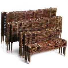 Ágyásszegély , Kerti szegély 20x60 cm - Kosárfutár Wicker Baskets, Firewood, Garden, Fences, Decor, Ebay, Walls, Tejidos, Soil Conservation