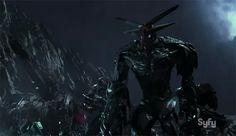 The Volge är en av åtta alienraser, och seriens mörka hot. Ja, de är jätterobotar