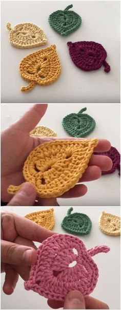 Crochet Tiny Leaves Video Tutorial – We Love Crochet – crafts Crochet Leaf Patterns, Crochet Pattern Free, Crochet Leaves, Crochet Motifs, Crochet Designs, Crochet Roses, Crochet Appliques, Beau Crochet, Love Crochet