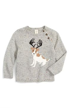 Tucker + Tate 'Reindeer Dog' Intarsia Knit Sweater (Baby Boys) available at #Nordstrom