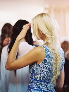 Fishtail braids at Tory Burch Spring 2013 {love these}