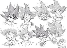♡>//w//<😍😍😍😍 (by Yuya Takahashi) Dbz Drawings, Manga Dragon, Goku Drawing, Anime Pixel Art, Anime Sketch, Dragon Ball Z, Art Sketches, Art Reference, Character Art