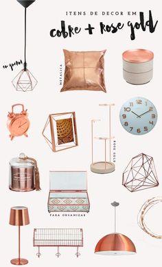 Obejtos de decoração cobre