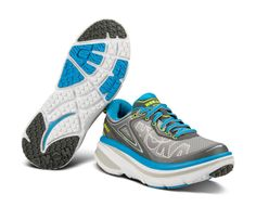 With an all-EVA midsole and Early-Stage Meta-Rocker, the BONDI 4 provides a smooth, cushioned ride that is revered for its balance and simplicity. While primarily designed for running on hard, man-made surfaces, the Bondi 4 has just enough traction to play on light trails. Hoka One One Woman, Shoe Wall, Light Trails, Running Shoes, Stage, Smooth, Play, Sneakers, Women