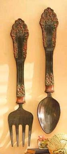 Antique Fork and Spoon