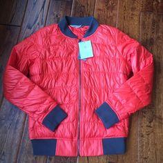 NWT Athleta down bomber jacket Gorgeous down jacket. New with tags. Side pockets Athleta Jackets & Coats