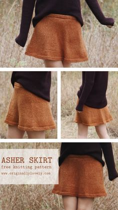 Asher Skirt Knitting Pattern Originally Lovely is a place to find knitting patterns, tutorials, and inspiration. Lets add some stylish handmade items into our wardrobes and livestyles! Skirt Pattern Free, Crochet Skirt Pattern, Crochet Skirts, Knit Skirt, Knit Crochet, Crochet Summer, Fall Knitting Patterns, Dress Sewing Patterns, Knitting Designs