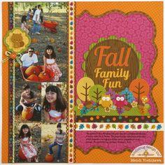 Doodlebug Design Inc Blog: Friendly Forest: Fall Family Fun Layout by Mendi Yoshikawa