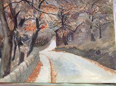 Mid grove Delph watercolour by WJ Empson