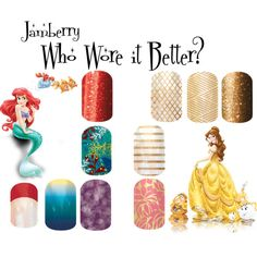 """""""jamberry pricesses 2"""" by angiodancer on Polyvore www.nina10e.jamberrynails.net"""